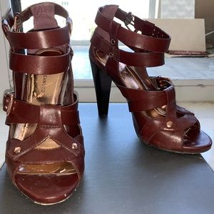 Vince Camuto Brown Gladiator Style Heels